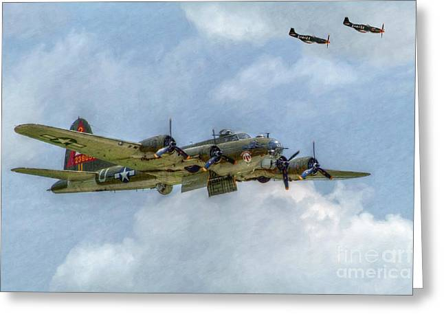 U.s. Air Force Greeting Cards - B-17 Flying Fortress Bomber  Greeting Card by Randy Steele