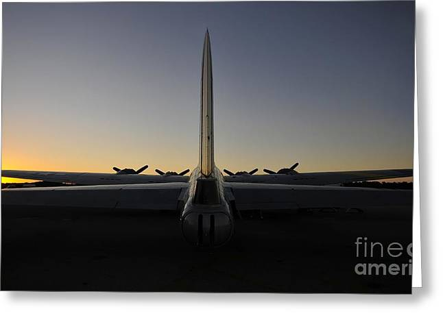 Liberty Bell Greeting Cards - B 17 Sunrise Greeting Card by David Lee Thompson