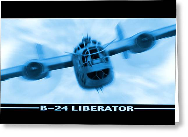 Propeller Greeting Cards - B-24 Liberator Greeting Card by Mike McGlothlen