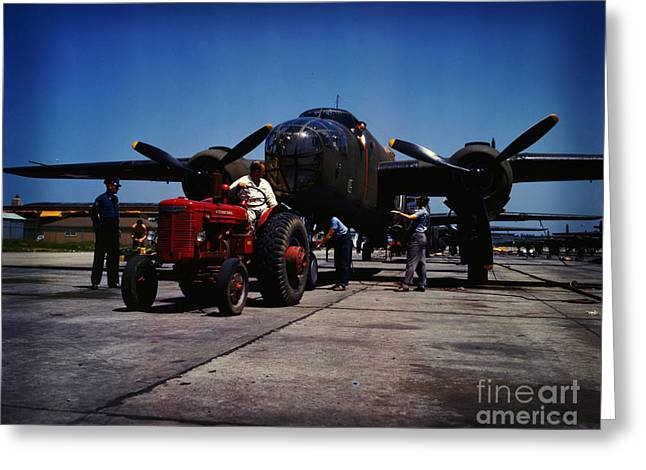 B-25 Bomber Planes Greeting Card by Celestial Images