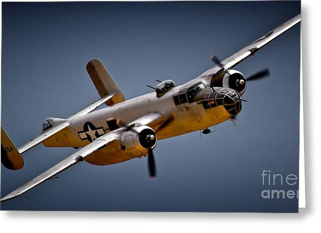 Planes Of Fame Greeting Cards - B-25 Mitchell 2011 Chino Air Show Greeting Card by Gus McCrea