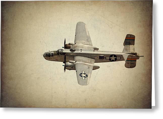 B-25j    Miss Mitchell Greeting Card by Al  Mueller