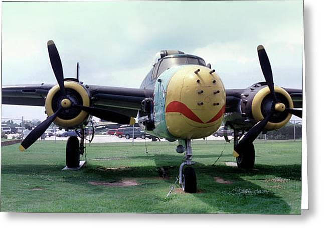 B-25j Mary Alice II, Mitchell Bomber Greeting Card by Wernher Krutein