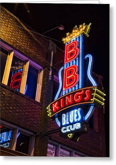 B B Kings On Beale Street Greeting Card by Stephen Stookey