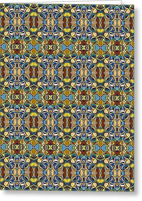 Abstract Design Tapestries - Textiles Greeting Cards - CrazieArt Designs by Thia - Annie Greeting Card by Thia Stover