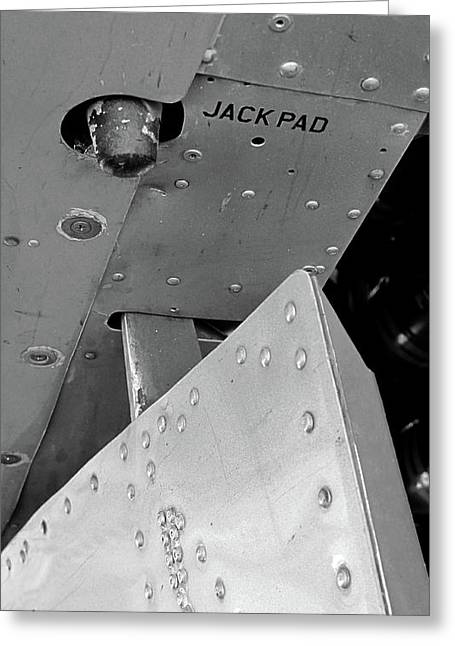 Airplane Tapestries - Textiles Greeting Cards - B17 Jack Pad Greeting Card by Larry Darnell