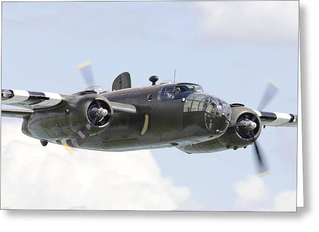 Military Aviation Greeting Cards - B25 - Portrait Greeting Card by Pat Speirs