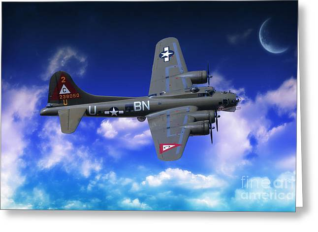 B17 Flying Fortress Greeting Card by Stephen Smith