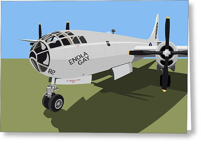 B29 Bomber Greeting Cards - B29 Superfortress Greeting Card by Michael Tompsett