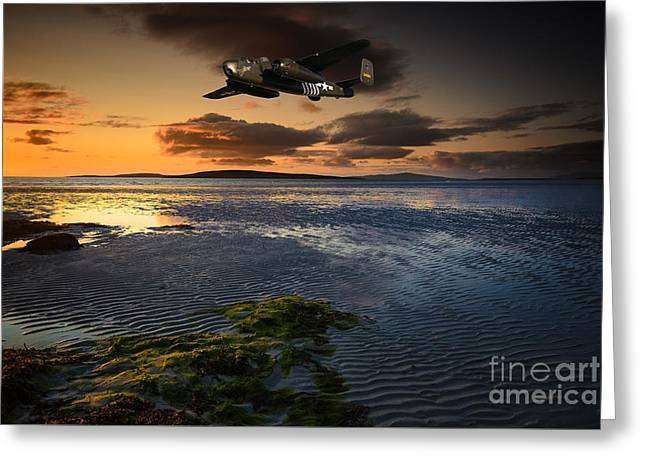 B25 Mitchell Bomber Greeting Card by Stephen Smith
