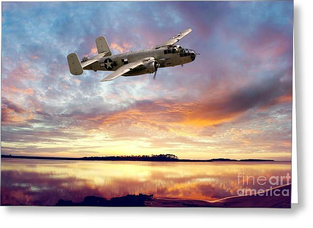 B25 Mitchell Greeting Card by Stephen Smith