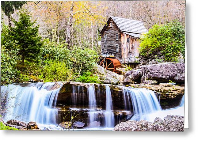 Fall Trees Greeting Cards - Babcock Grist Mill Spring Greeting Card by John  Willey