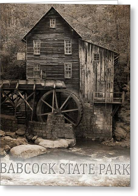 Babcock State Park Poster Greeting Card by Dan Sproul