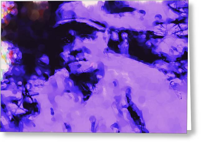 Boston Red Sox Paintings Greeting Cards - Babe Ruth 2b Greeting Card by Brian Reaves