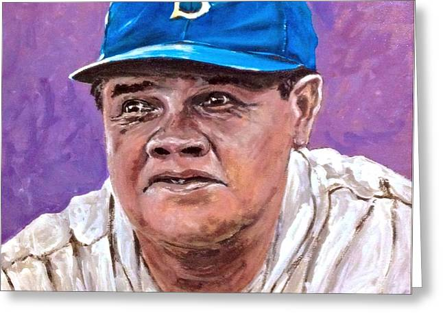 Babe Ruth Greeting Card by Alexander Gatsaniouk