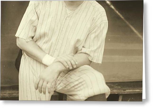 Babe Ruth Posing Greeting Card by Padre Art