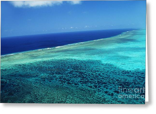 Far Above Greeting Cards - Babeldoap Islands Greeting Card by Allan Seiden - Printscapes