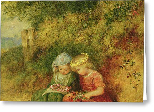Babes In The Wood Greeting Card by John H Dell
