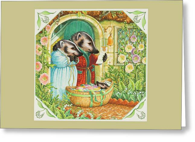 Baby Badger Greeting Card by Lynn Bywaters