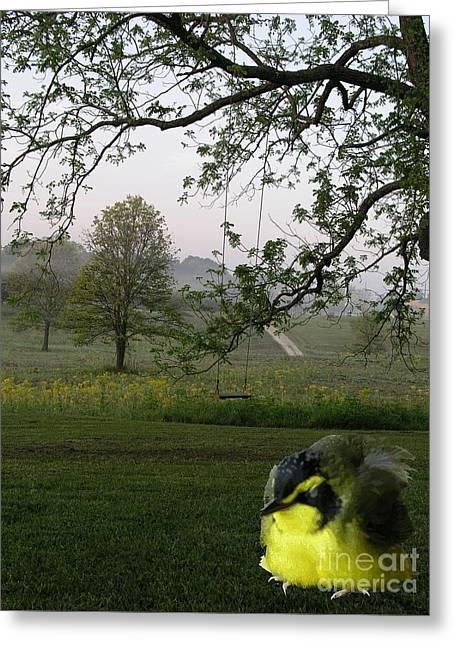 Baby Bird Greeting Cards - Baby Bird Greeting Card by Karen Musick