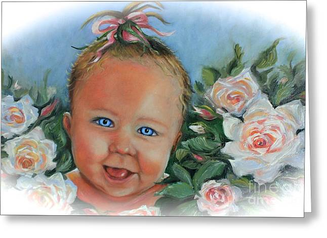 Baby Blue Eyes Greeting Card by Yvonne Ayoub