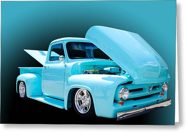 Oldies Greeting Cards - Baby Blue Greeting Card by Jim  Hatch