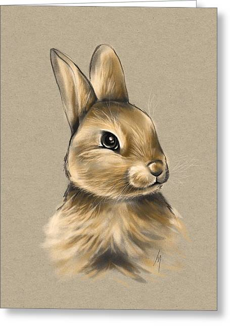 Pet Drawing Greeting Cards - Baby bunny Greeting Card by Veronica Minozzi