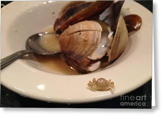 Menu Greeting Cards - Baby Crab Greeting Card by Brigitte Louzeiro