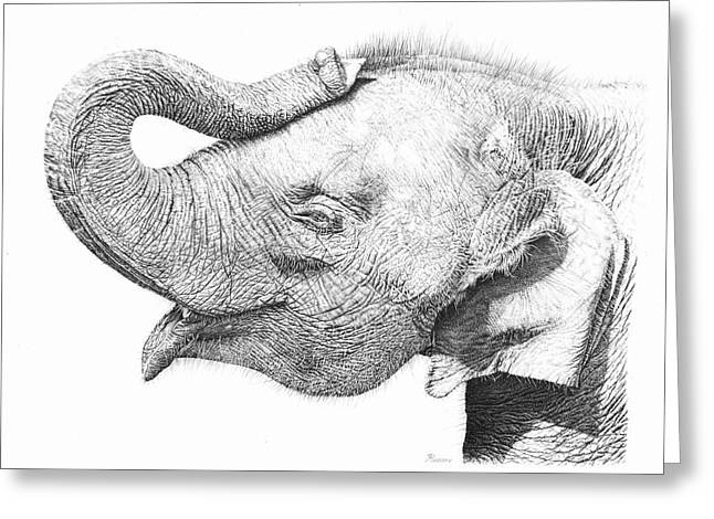Baby Elephant Greeting Card by Remrov