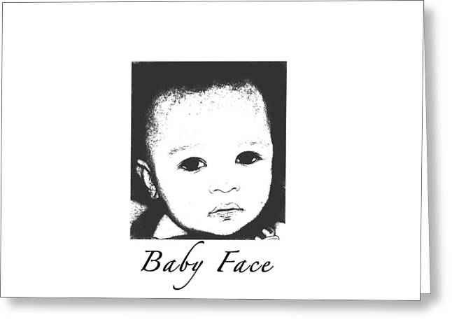 Baby Face Greeting Card by Terry Wallace