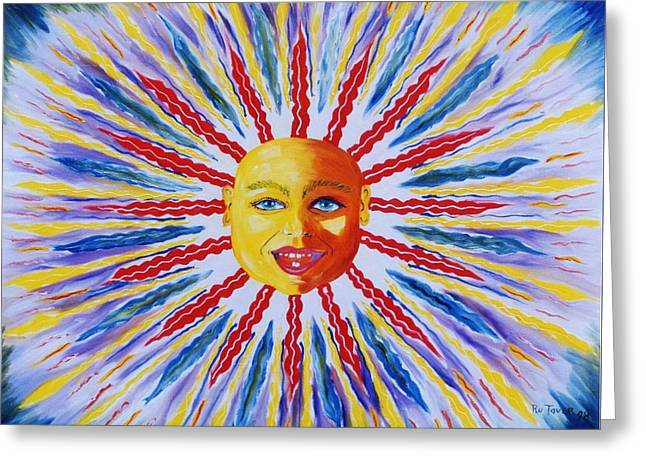 Baby Sun I Greeting Card by Ru Tover