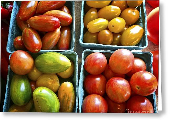 Farm Stand Greeting Cards - Baby Tomato Medley Greeting Card by Dee Flouton