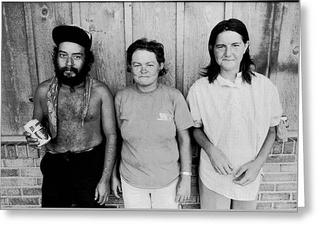 Alcoholism Greeting Cards - Portraits Of Poverty 1988-1997 Greeting Card by Michael L Kimble