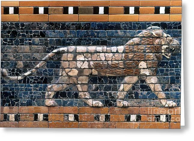 Babylon Greeting Cards - Babylon: Lion Greeting Card by Granger