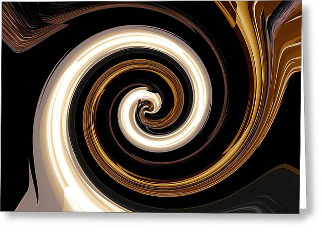 Babylon Digital Greeting Cards - Babylonian Swirl Greeting Card by Michalis Efthymiou