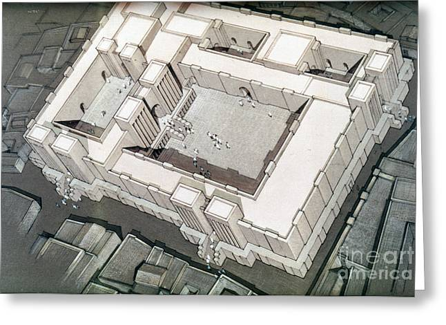 Babylon Greeting Cards - Babylonian Temple Greeting Card by Granger