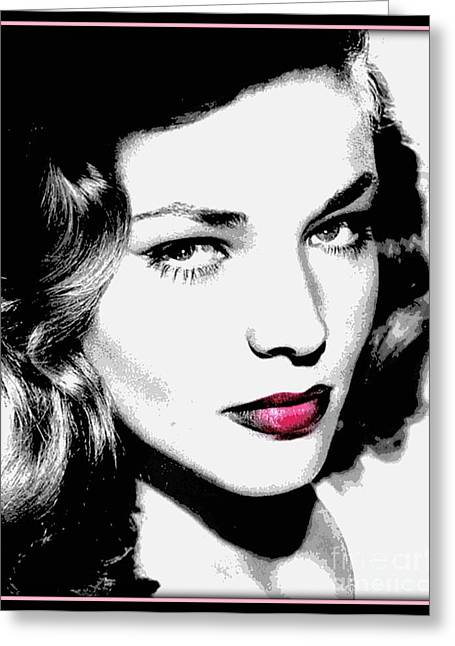 Bacall Greeting Card by WBK