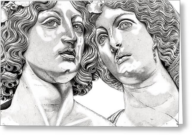 Statue Reliefs Greeting Cards - Bacchus and Ariadne _V1 Greeting Card by Bruce Algra