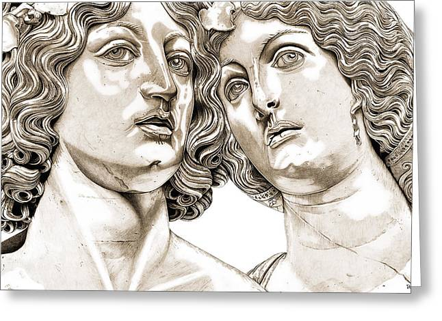 Greek Reliefs Greeting Cards - Bacchus And Ariadne _v2 Greeting Card by Bruce Algra
