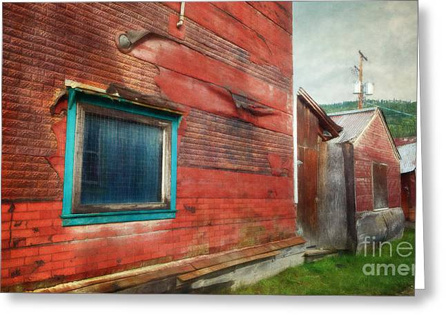 Goldrush Greeting Cards - Back Alley Greeting Card by Priska Wettstein