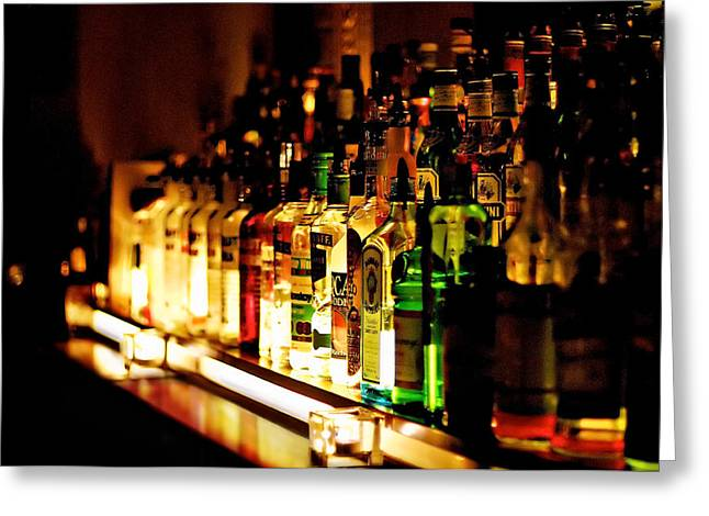 Candle Lit Greeting Cards - Back Bar Greeting Card by Wolfgang Simm