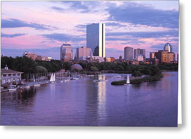 Boston Ma Greeting Cards - Back Bay Boston Ma Greeting Card by Panoramic Images