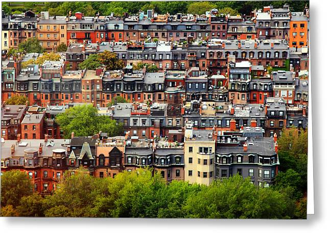 Rooftop Photographs Greeting Cards - Back Bay Greeting Card by Rick Berk