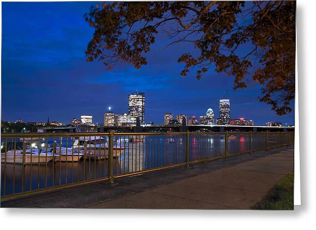 Fenway Park Greeting Cards - Back Bay Skyline - Boston Greeting Card by Joann Vitali