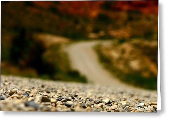 Gravel Road Greeting Cards - Back Country Roads Greeting Card by Mark  Ross