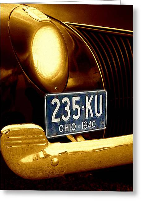 Vintage Auto Greeting Cards - Back In The Day Greeting Card by Kenneth Krolikowski