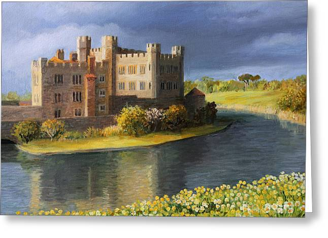 Historic England Paintings Greeting Cards - Back in time Greeting Card by Kiril Stanchev