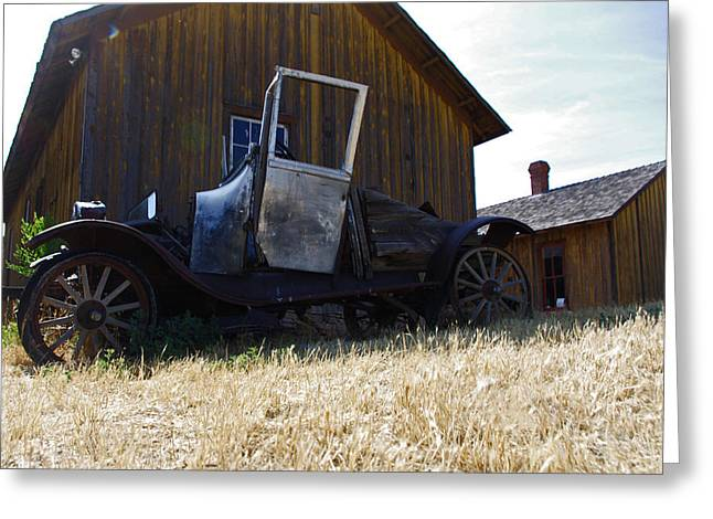 Ford Model T Car Greeting Cards - Back in Time Greeting Card by Martha Milligan