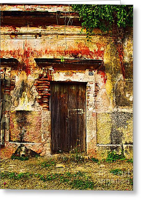 Old Wall Greeting Cards - Back Lot by Darian Day Greeting Card by Olden Mexico
