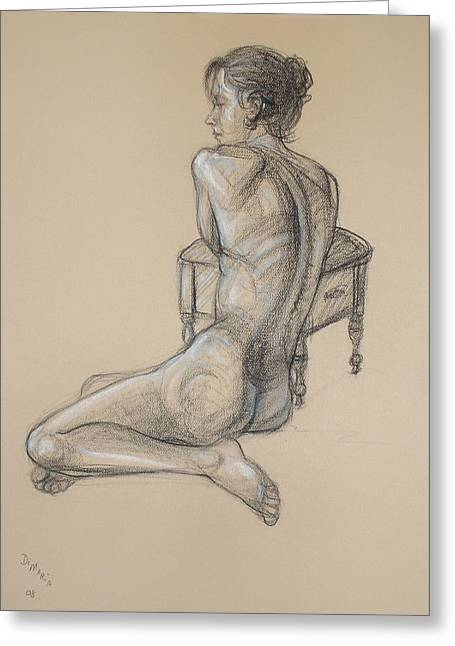 Nude Greeting Cards - Back Nude 2 Greeting Card by Donelli  DiMaria